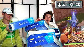 Download I GAVE MY LITTLE BROTHER 1 PS4 FOR EVERY KILL IN FORTNITE! ($30,000) Video