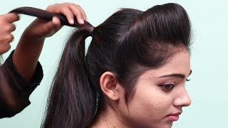 1 Minute Side Puff For Thin Hair How To Make Side Puff Hairstyle