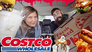 Download COSTCO FOOD COURT CALORIE CHAOS CHALLENGE | B.S.B.O Ep.5 Video