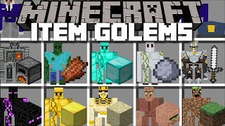 Download Minecraft ITEM GOLEM MOD / SPAWN ODD GOLEMS AND WATCH THEM PROTECT YOU TO SURVIVE!! Minecraft Video