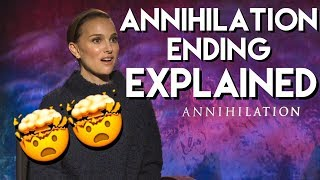 Download Natalie Portman explains the ending of ANNIHILATION with the cast Video