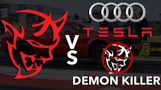 Download Dodge Demon vs Audi, Tesla, & Demon Killer? Video