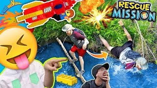 Download He Fell in da Swamp! LEGO ROCKET RESCUE MISSION! TRY NOT TO LAUGH! FUNnel Vision Kids Adventure Vlog Video