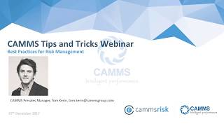 Download CAMMS' Tips and Tricks Webinar - Monitor, manage and mitigate risks with ease Video