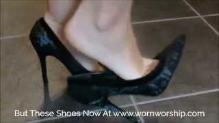 Download WORNWORSHIP Buy My Black Embroidered Worn High Heels H0002 Video