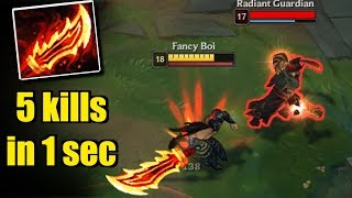 Download RAGEBLADE TRYNDAMERE - 5 kills in 1 second - League of Legends Compilation Video