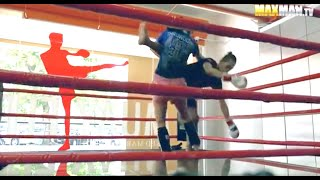 Download Nerdy girl beats up guys at the gym - Maxmantv Video