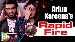 Download Arjun Kapoor | Kareena Kapoor's SUPER-FUN Rapid Fire On SRK | Salman | Aamir | Alia Video