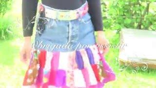 Download Saia reciclada de retalhos e Jeans Video