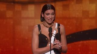 Download Dua Lipa Wins Best New Artist | 2019 GRAMMYs Acceptance Speech Video
