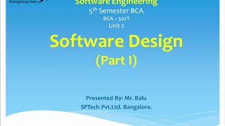 Download Introduction to Software Engineering - Software Design Part 1 Video