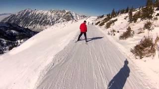 Download Ski Snowbird Black Diamond GOPRO HERO and loses footing, fall off by Vik Video