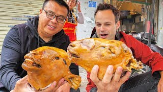 Download EXTREME Street Food in China - WHOLE Lamb Head (HALAL) + MOST INSANE Chinese Street Food in China! Video