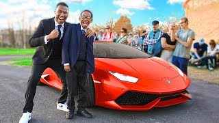 Download Picking up little brother from High School in a Lamborghini (emotional) Video