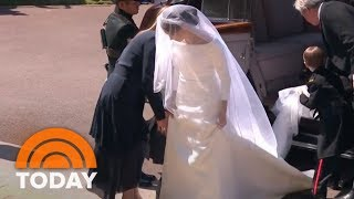 Download Royal Wedding: Meghan Markle Makes First Appearance In Wedding Gown | TODAY Video