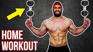 Download Beast No-Gym Upper Body Dumbbell Home Workout | Build Muscle With This KILLER Upper Body Workout!! Video