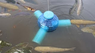 Download Smart Girl Make Fish Trap Using PVC And Plastic Bottle To Catch A Lot of Fish Video