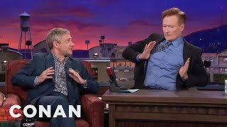Download Martin Freeman Makes Conan Do His Terrible British Accent - CONAN on TBS Video