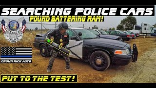 Download Searching Police Cars Found Battering Ram! Ford Crown Victoria Interceptor Video