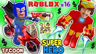 Download ROBLOX SUPER RICH HEROES $$$$ Iron Man Duddy vs Batman Chase SUPERHERO TYCOON (FGTEEV #16 Gameplay) Video