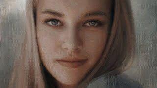 Download Yuehua He oil painting ″Portrait″ Video