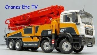 Download Conrad MAN TGS + Putzmeister M42-5RZ Concrete Pump by Cranes Etc TV Video