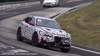 Download 2018 Alfa Romeo Stelvio QV Spied Testing on the Nurburgring, Nordschleife! Video