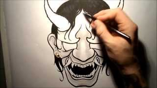 Download How To Draw A Hannya Mask / Oni Video