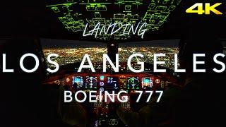 Download Night Landing Los Angeles | Cockpit View 4K Video