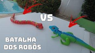 Download ROBÔ COBRA VS ROBÔ LAGARTO. QUEM VENCEU?! Video