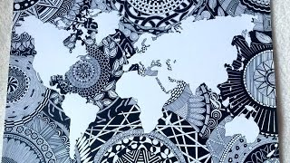 Download [Speed Drawing] Ma Map Monde Zentangle Video