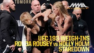 Download UFC 193 Weigh-Ins: Ronda Rousey vs. Holly Holm Video