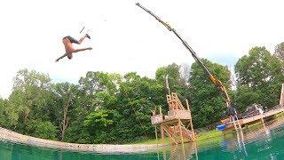 Download Worlds Dumbest Backyard Rope Swing!! Video