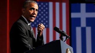 Download Ιστορική ομιλία Ομπάμα-«Ζήτω η Ελλάς», αναφώνησε ο αμερικανός πρόεδρος Video