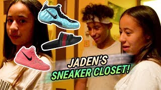 Download Jaden Newman Has A Better SNEAKER CLOSET Than Julian!? How Many Pairs Of GUCCIS!? 💰 Video