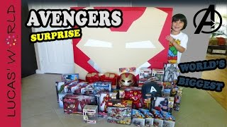 Download World's Biggest HULK BUSTER Iron Man Square Surprise Egg AVENGERS Age of Ultron Toys | Lucas World Video