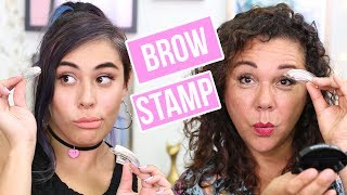 Download Trying The Eyebrow Stamp With My MOM! Video