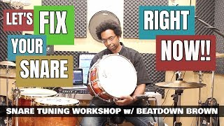 Download TUNE ANY SNARE DRUM FAST & EASY! - Snare Tuning Workshop 2018 Video