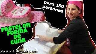 Download PASTEL EN FORMA DE CUNA PARA BABY SHOWER Video