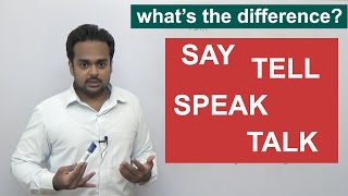 Download SAY, TELL, SPEAK, TALK - What's the difference? - English Grammar Video