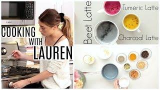 Download 3 WELLNESS LATTES | COOKING WITH LAUREN! Video