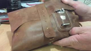 Download Super leather pipe bag for sale Video