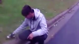 Download Police bodycam footage captures man giving squirrel CPR on side of road Video