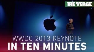 Download Apple's WWDC 2013 keynote in 10 minutes Video