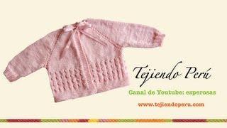 Download Dos agujas: chaqueta para bebé (Parte 1) - Tejiendo Perú Video