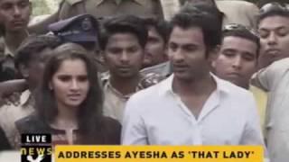 Download Sania Mirza, Shoaib Malik address media in Hyderabad Video