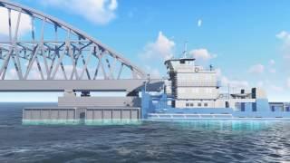 Download Сборка и транспортировка арок Крымского моста. Графика Video