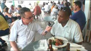 Download Sampling food in Bridgetown, Barbados Video