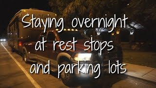 Download Staying Overnight at Rest Stops and Parking Lots Video