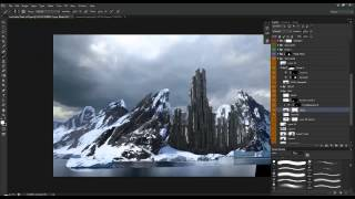 Download Create a Mountain Fortress Using Matte Painting Techniques in Photoshop Video